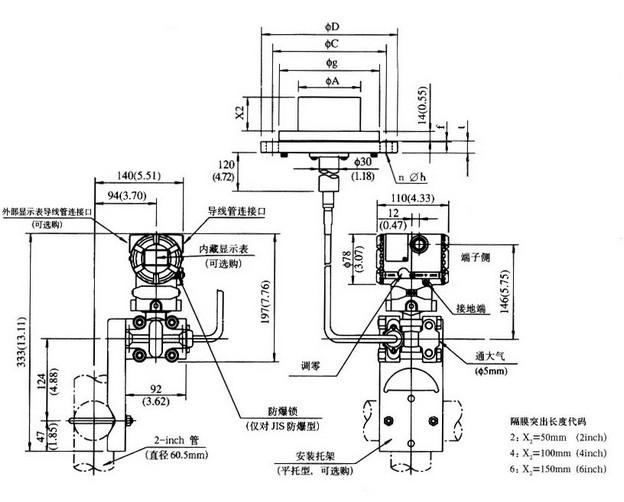 隔膜密封式壓力變送器