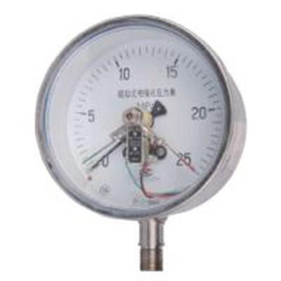 YXC-153BFZ不鏽鋼耐震磁助式電接點壓力錶