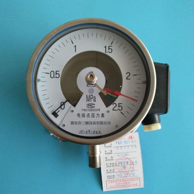 YXG-1525-B/12防爆感應式電接點壓力錶