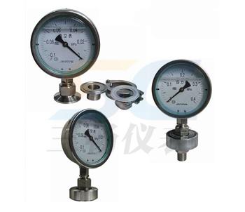 Y-100A-Z/Z/MC衛生型隔膜壓力錶