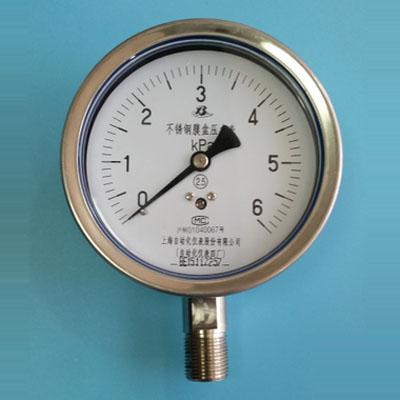 YE-100BF不鏽鋼膜盒壓力錶