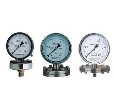 YPF-150B-F法蘭不鏽鋼膜片壓力錶